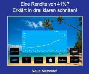 Neue Methode 41 Prozent Rendite
