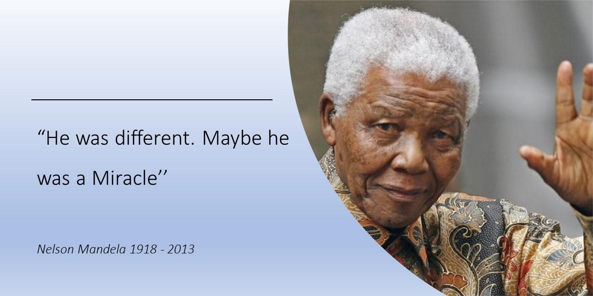 Wij zijn anders - Nelson Mandela
